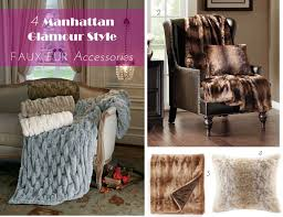 Faux Fur Throw Pillow 4 Manhattan Glamour Style Faux Fur Accessories For Your Apt