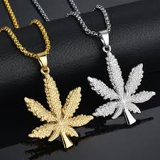 hip hop necklace images New iced out weed hiphop necklace pendant silver plated maple leaf jpg