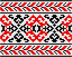 ukrainian ornaments illustration of ukrainian embroidery ornaments with geometric