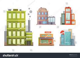 House Flat Design by Flat Design Retro Modern City Houses Stock Vector 650677603