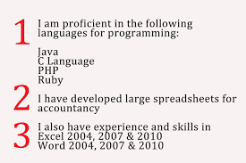 how to write the word resume how to write a summary of your computer proficiency 8 steps