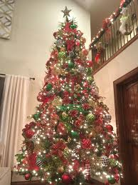my red green gold black and white 12 14ft christmas tree