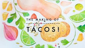 cuisine illustration how to watercolor x tacos food illustration
