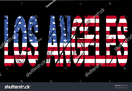 American Flag In Text Grunge Los Angeles Text American Flag Stockillustration 32396173