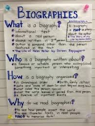 biography an autobiography difference features of biography vs autobiography anchor chart google search