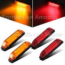 Marine Led Strip Lights by Partsam 4pcs Amber Underwater Boat Light 4