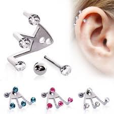 helix cartilage earrings 25 awesome helix piercing jewelry inspirations