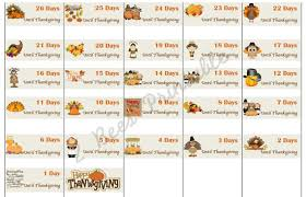 thanksgiving countdown calendar printable divascuisine