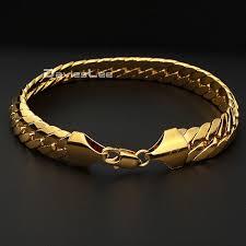 cuban link bracelet men images Davieslee 11mm gold filled necklace chain close curb link party jpg
