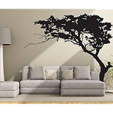 Tree Wall Decals For Living Room Amazon Com Large Tree Wall Decal Sticker Semi Gloss Black Tree