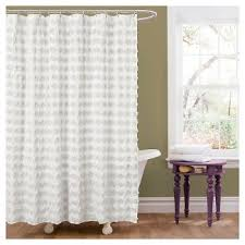 Curtain Rosettes White Ruffle Shower Curtains Target