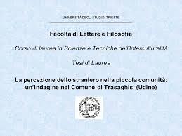 lettere e filosofia ct universit縲 degli studi di trieste facolt罌 di lettere e filosofia
