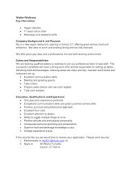 Subway Job Description For Resume by 80 Resume Waiter Resume Objective Waitress No Experience