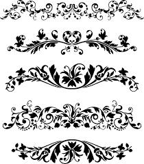 black vector ornaments set coreldraw vector cdr file free