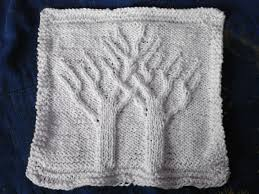 free knitting pattern christmas tree dishcloth two trees knit washcloth