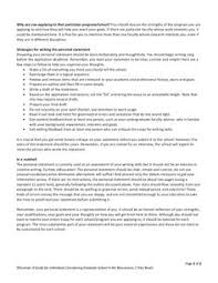 Writing the Personal Statement