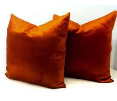 copper velvet pillow cover 18x18 pillow velvet pillow luxury