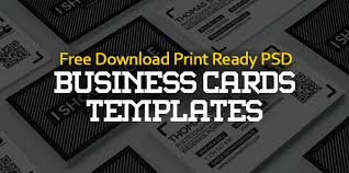 Home Graphic Design Business Free Business Cards Psd Templates Print Ready Design Freebies