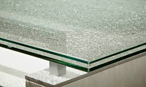 Large Glass Dining Tables Crackled 84