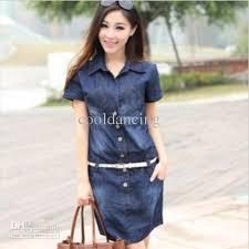 full size s to 5xl denim dress for women fashion casual denim