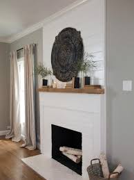 living room painted fireplace brick classic painting fireplace
