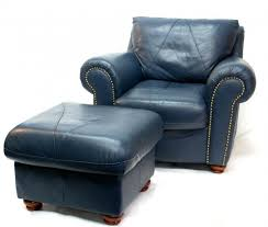 Navy Blue Leather Ottoman Blue Chair With Ottoman Home Design Ideas And Pictures