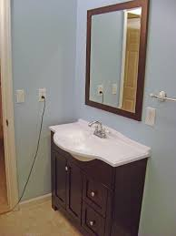 Blue And Brown Bathroom by Small Bathroom Mirror Zamp Co