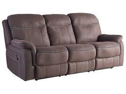 faux leather reclining sofa standard furniture chion 4030393 taupe faux leather reclining
