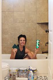 Can You Paint Bathroom Tile In The Shower How To Paint Shower Tile Remington Avenue