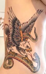 Rebel Flag Eagle Tattoo Seven Skulls Tattoo Traditional Tattoo Eagle Snake American