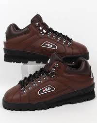 fila vintage trailblazer boots brown leather hiking retro terrace mens