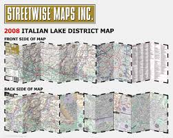 Map Of Lake Como Italy by Streetwise Italian Lake District Map Laminated Regional Map Of