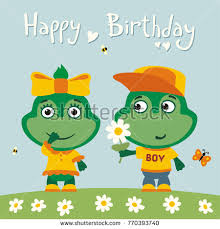 happy birthday greeting card funny frog stock vector 770393740