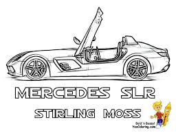 super fast cars coloring mercedes benz slr mclaren stirling moss