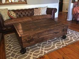 Rustic Coffee Table On Wheels Rustic Coffee Table With Wheels For Kitchen Measuring Up Decoration