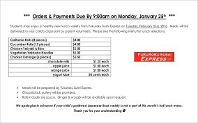 dinner order form template 15 food order templates free sle exle format