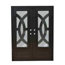 grafton exterior wrought iron glass doors eclipse collection black