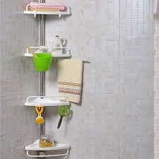 4 tier adjustable shelf bathroom organiser corner shower shelf