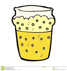 cartoon beer pint comic cartoon glass of beer stock illustration image 52879140