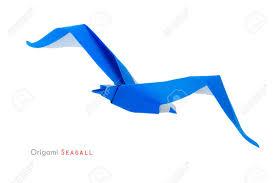origami gabbiano origami libert罌 uccello di carta gabbiano su uno sfondo bianco