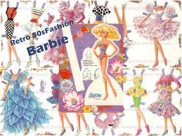 vintage cocktail party clipart barbie retro 80s paper doll fashion vintage printable digital