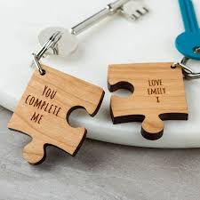 wood gifts personalised wooden gift missing jigsaw keyring by create