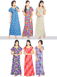 buy set of 6 cotton nighties online at best price in india on