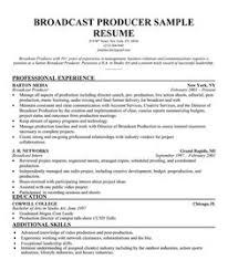 Film Resume Sample by Broadcast Producer Resume Sample Http Resumecompanion Com