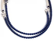 long blue necklace images Chanel pearl cc long necklace pearly white blue 73943 jpg