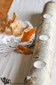 diy log tea light candle holder the wood grain cottage