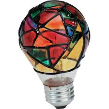 GE Stained Glass Incandescent Light Bulb 25 watts 380 lumens 2500