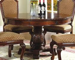 pedestal dining room sets round pedestal dining table in classic cherry mcfd5006 5454