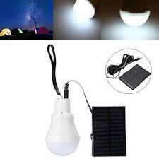 emergency lighting battery life expectancy 110lm solar powered led bulb cing hiking emergency light portable
