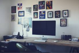 decorating awesome wall frame idea and cool computer desks plus
